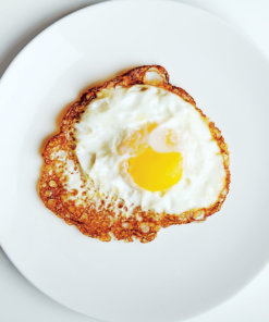 Image of fried egg cooked by home chef