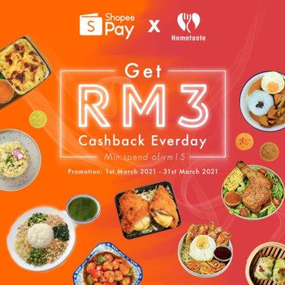 Shopee Cashback up to RM3